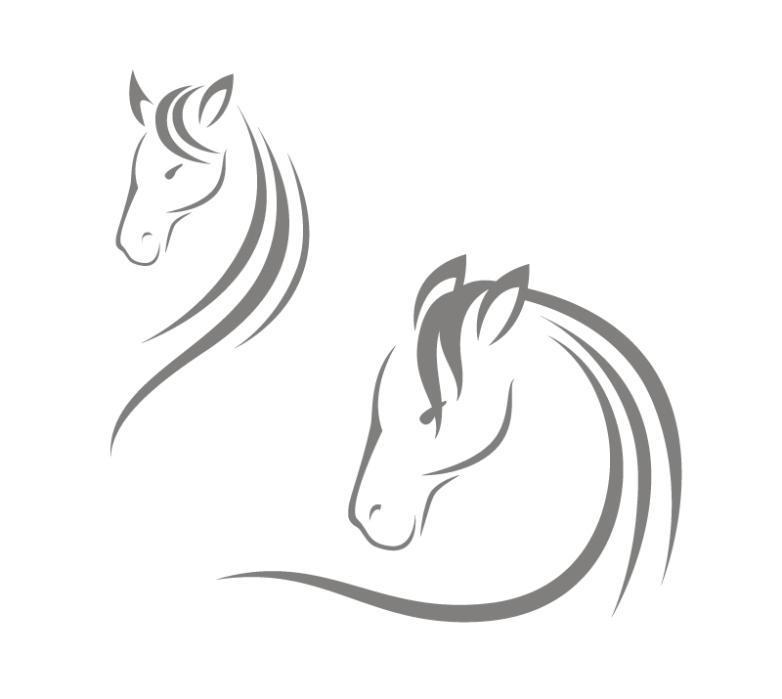 2 Horse Head Designs Vector