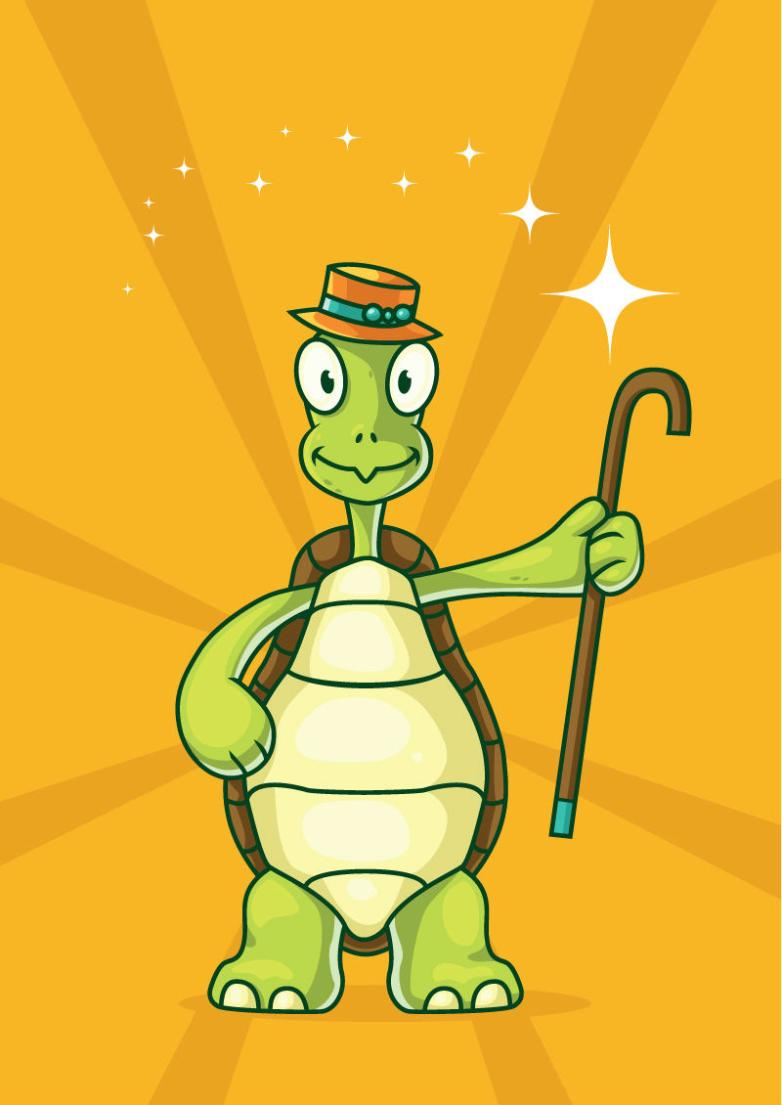 The Tortoise Cartoon With A Crutch Vector
