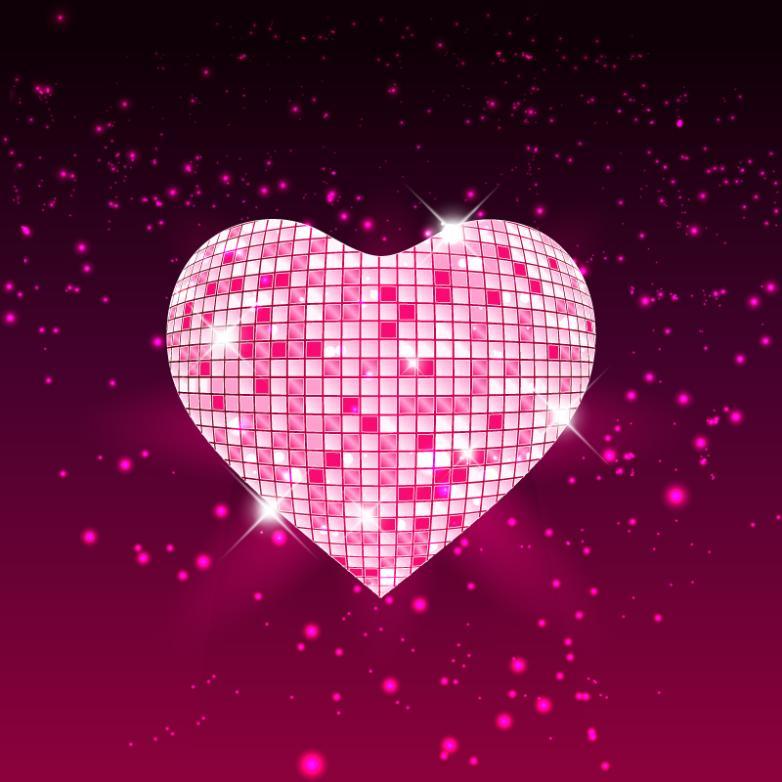 Beautiful Heart-shaped Radium Shoots The Light Vector