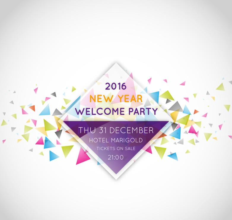Poster Fashion New Year's Eve Party Vector