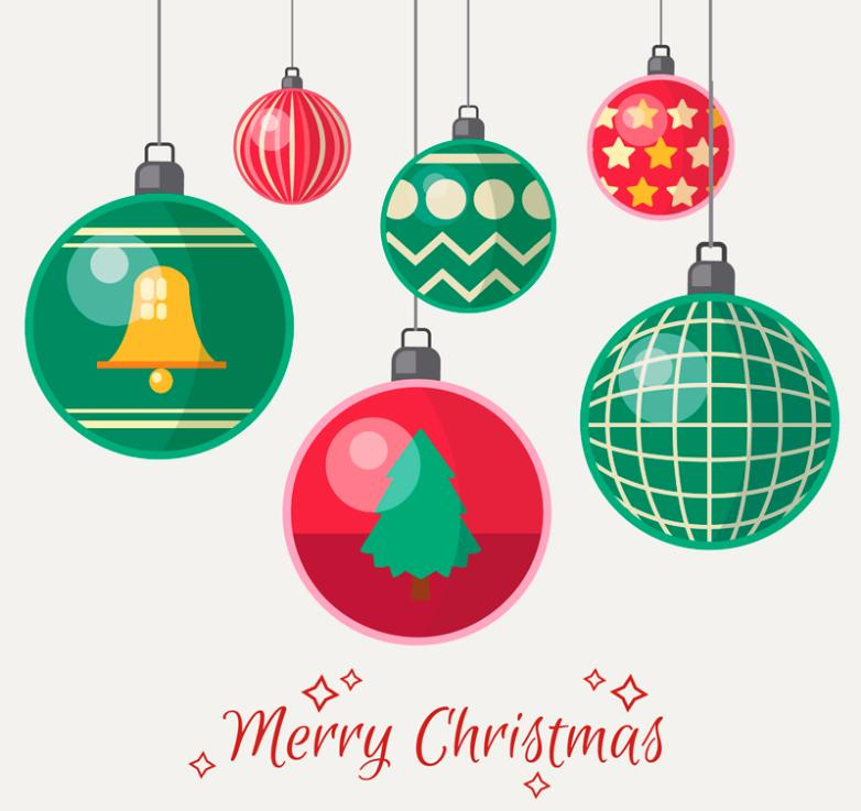 Six Cartoon Christmas Lob Vector