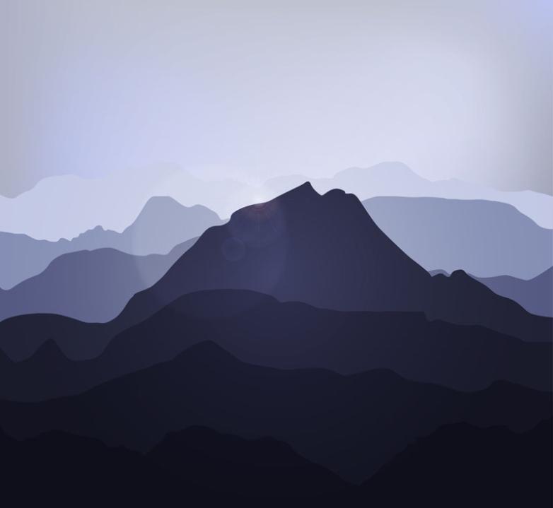 Creative Mountains Silhouette Vector