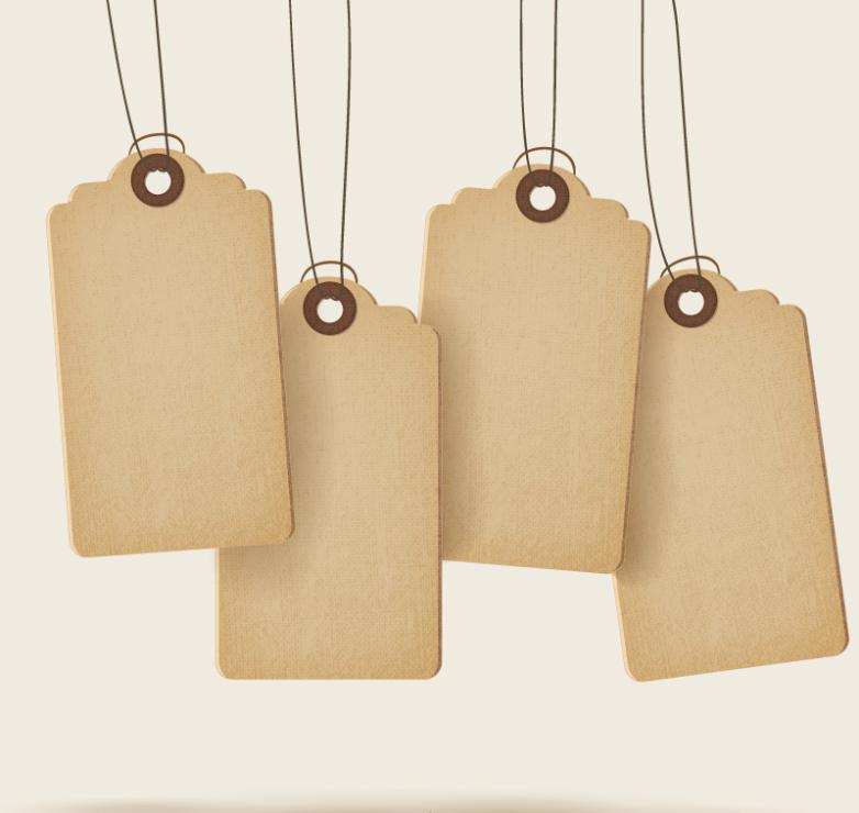 4 Blank Paper Tags Vector