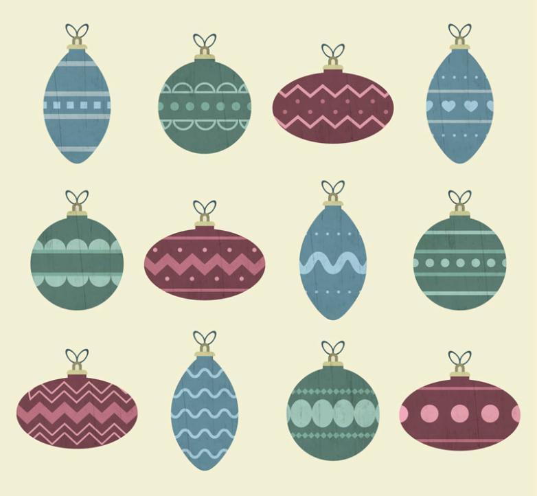 12 Color Christmas Lob Vector