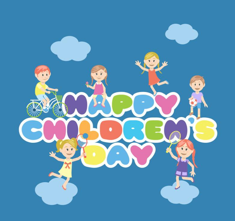 Cartoon For Children's Day Cards Vector