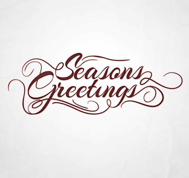 Season's Greetings Artistic Words Vector