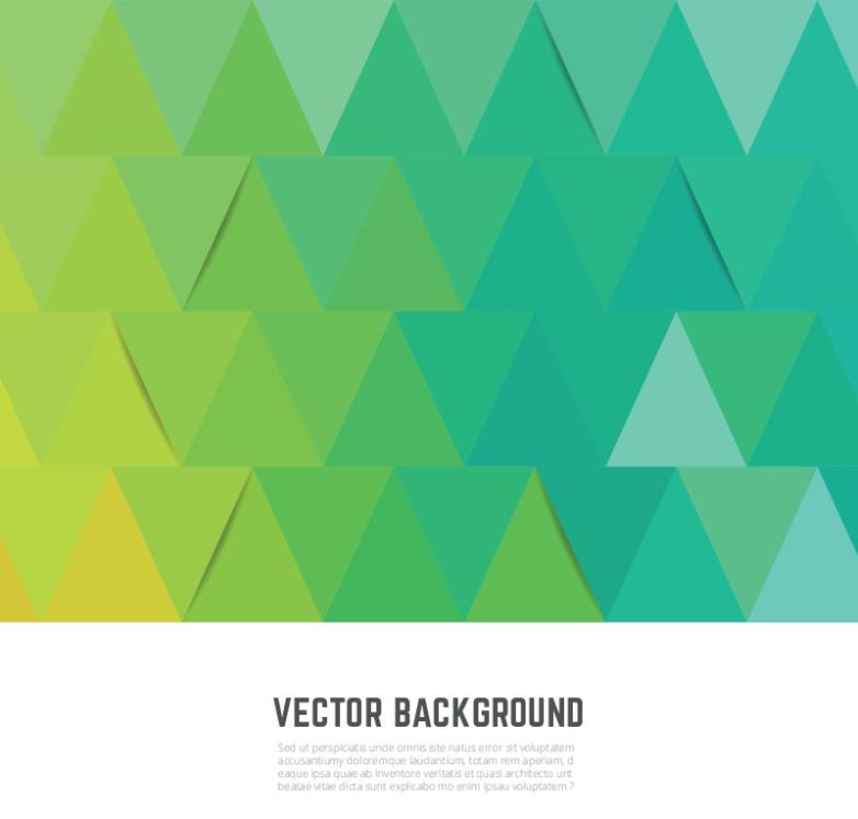 The Green Triangle Background Vector