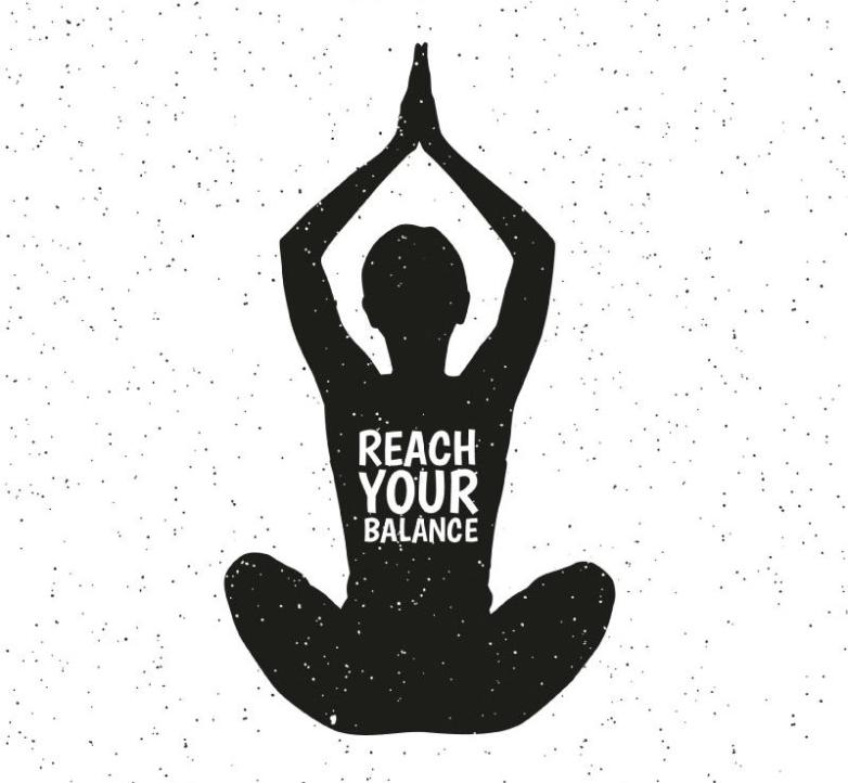 Doing Yoga In The Women's Silhouette Vector
