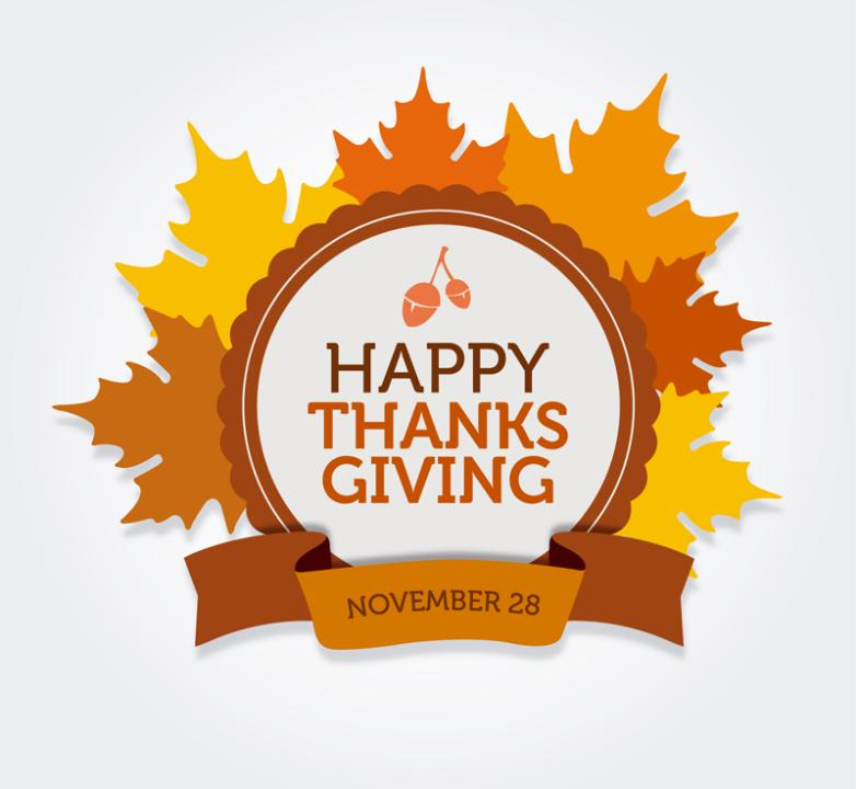 Thanksgiving Day Is Maple Leaf Tags Vector