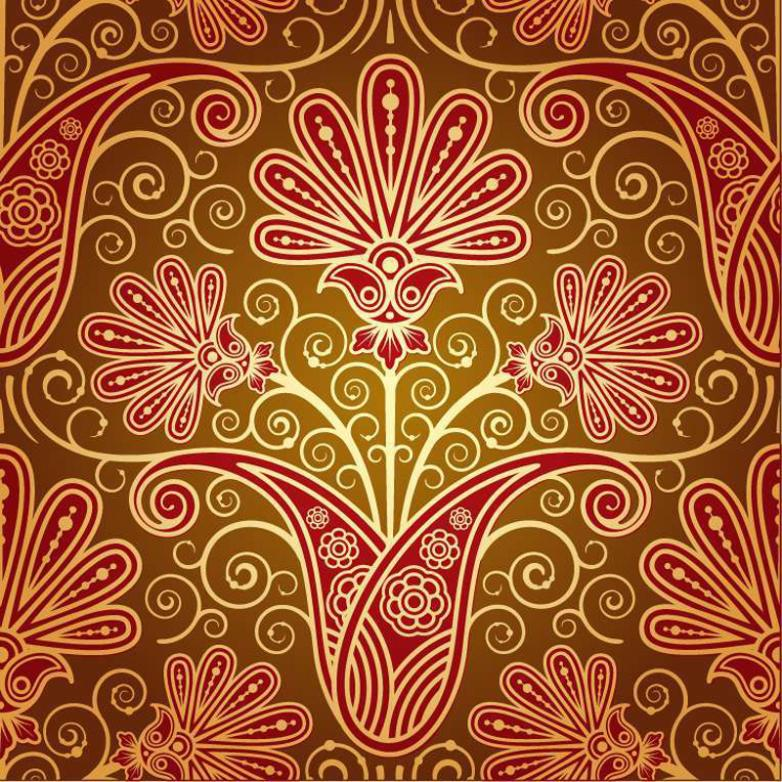 Gorgeous Red Pattern Background Vector