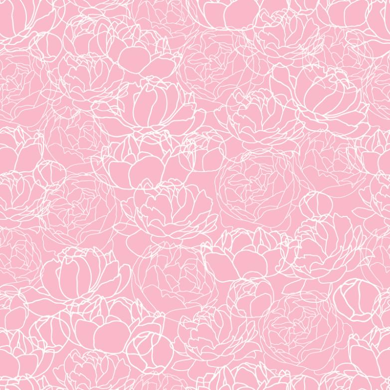 Pink Peony Pattern Seamless Background Vector