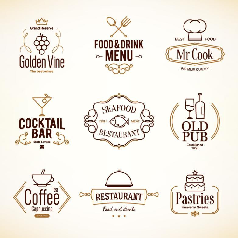 Nine New Restaurant Menus Vector