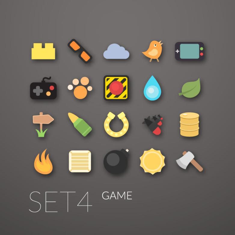 20 Fine Game Icon Vector