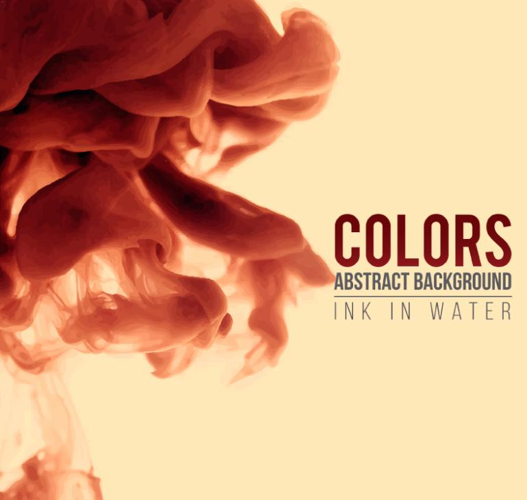 The Water Diffusion Of Watercolor Paint Vector