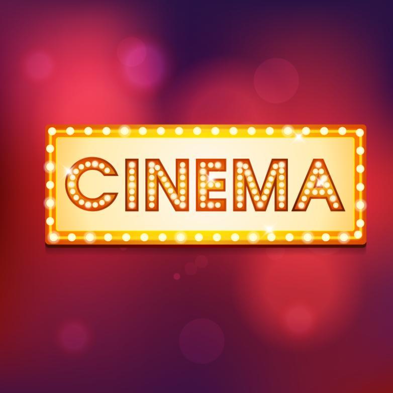 Film Art Word Neon Lights Vector