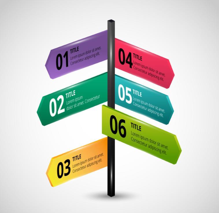 Color Figure Cross Street Business Information Vector