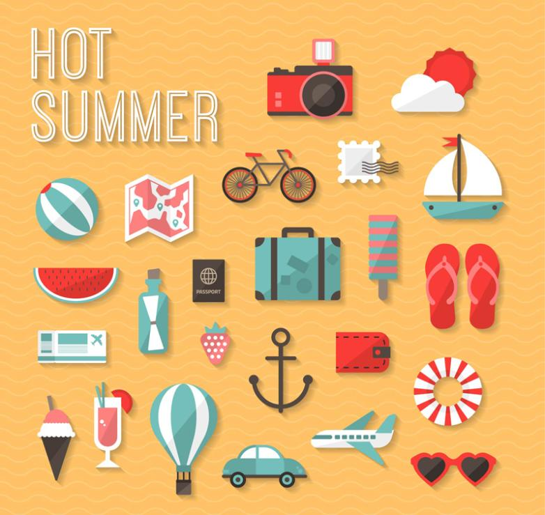 Polished 24 New Icons In Summer Vector