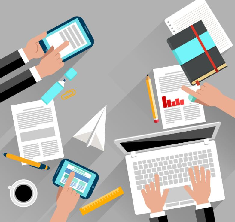 Team Meeting Illustrations Vector
