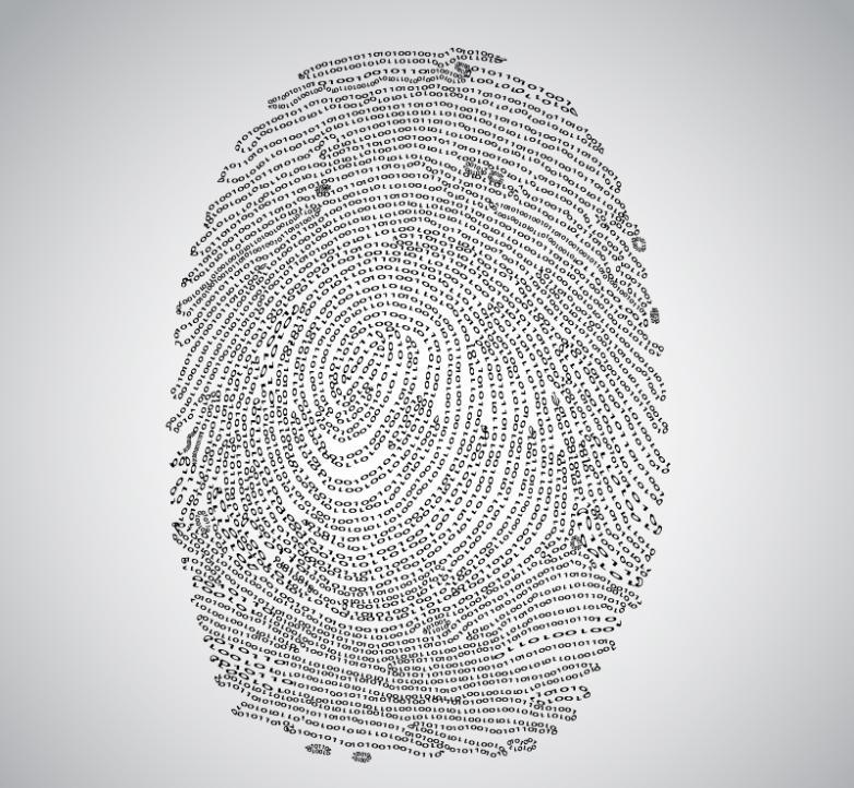 Creative Design Of Digital Fingerprint 01 Vector