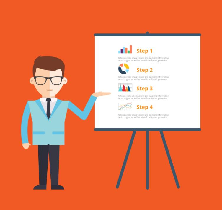 The Man Made A Business Presentation Vector