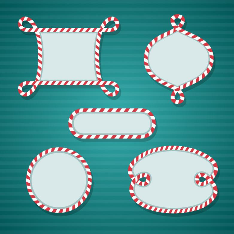 May Christmas Style Blank Label Vector