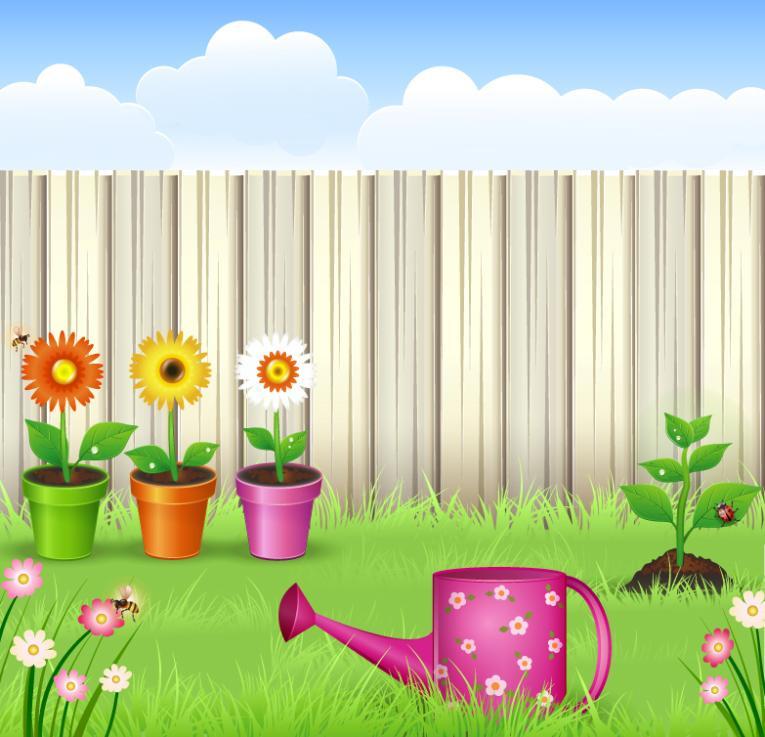 Cartoon Private Garden Vector