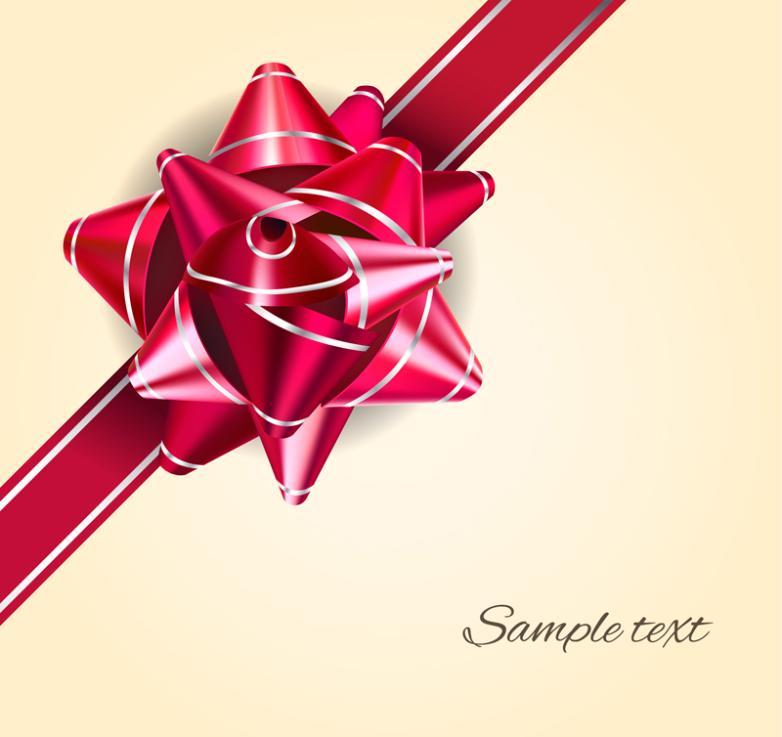 Wine Red Ribbon Flower Design Vector