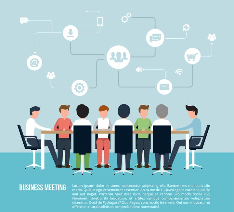Business Meeting Illustrations Vector