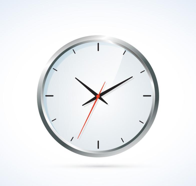 Fine Silver Clock Vector