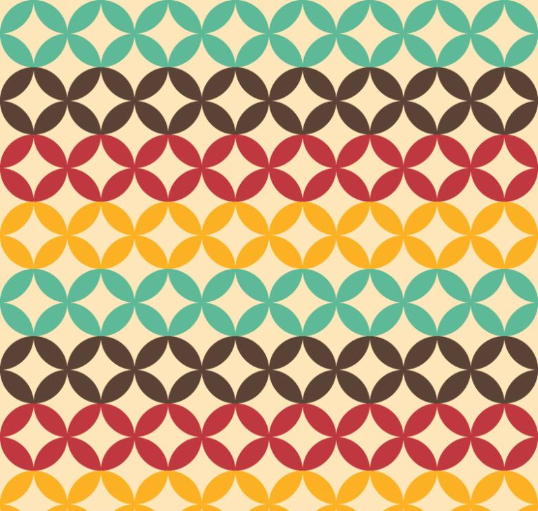 Seamless Background Color Copper Decorative Pattern Vector