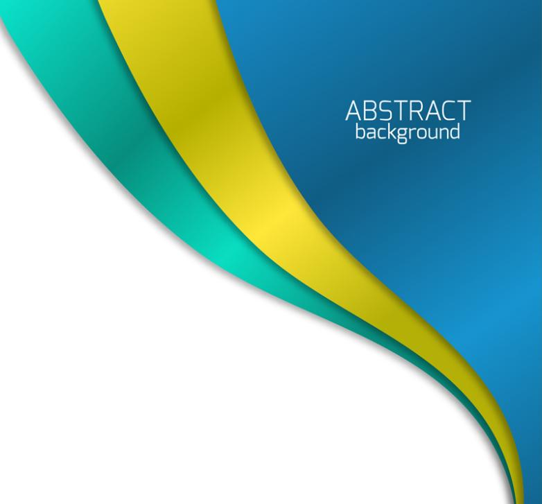 3 Color Arc Background Vector