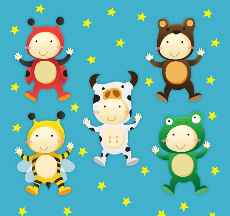 5 In Animals Children Vector