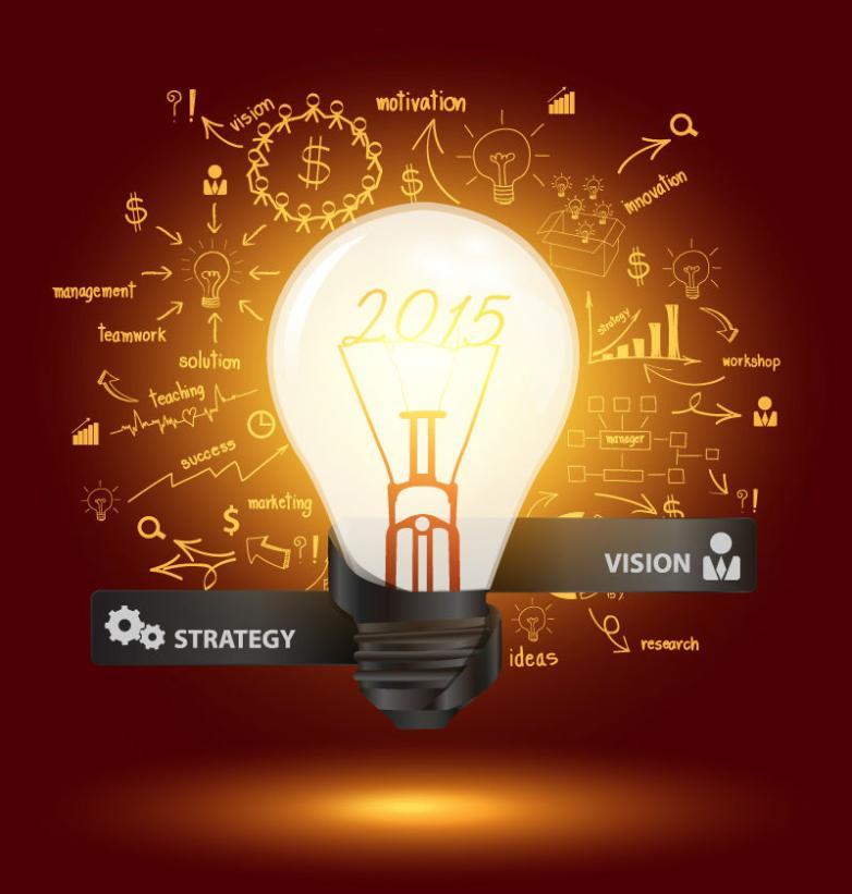 Bright Light Bulb Business Information Graph Design Vector