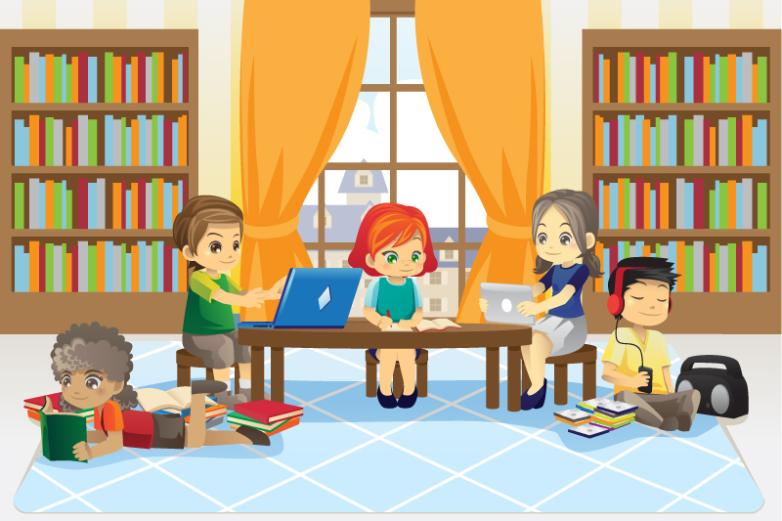 Library Learning In Children Vector