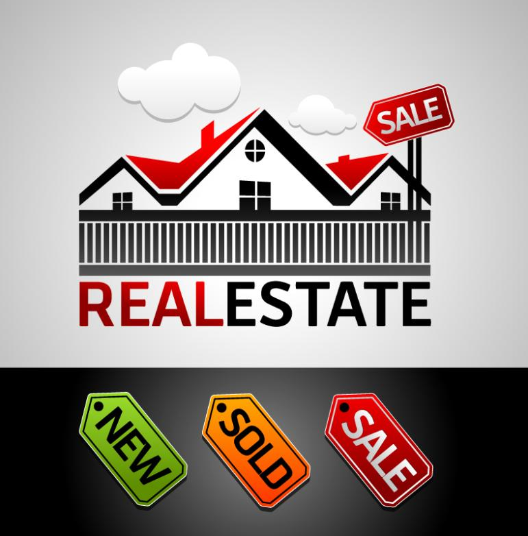 Real Estate Sales Marks And Tags Vector