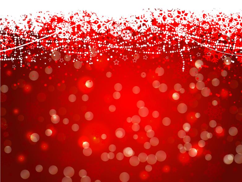 Red Snow Halo Background Vector