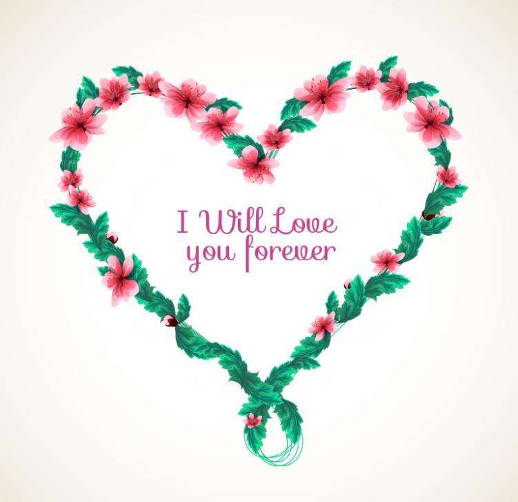 The Creative Love Wreath Vector