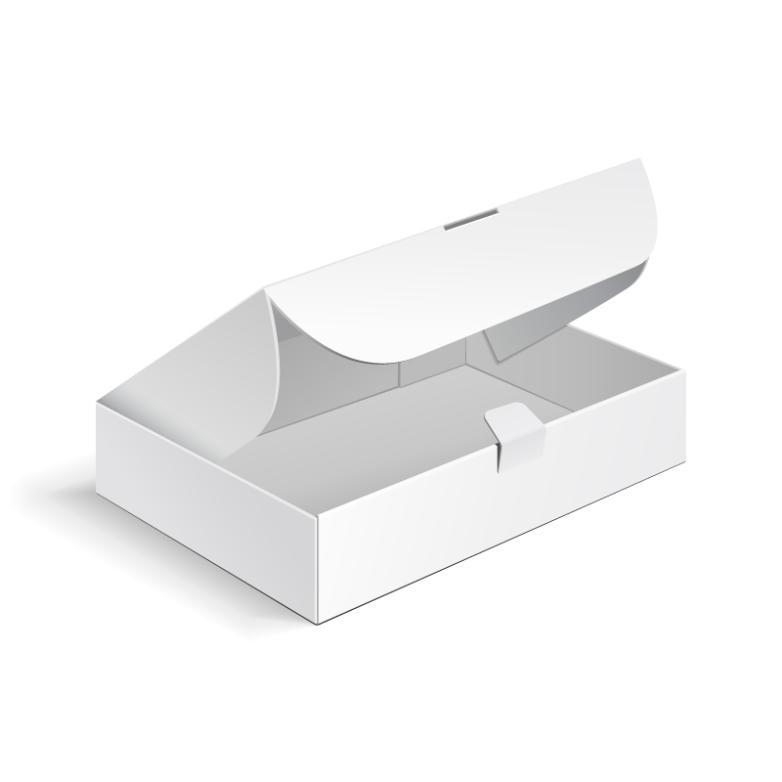 White Packaging Carton Design Vector