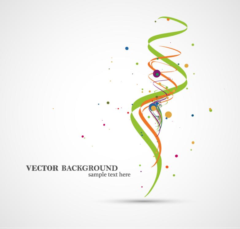 Creative Background Spiral Ribbon Vector