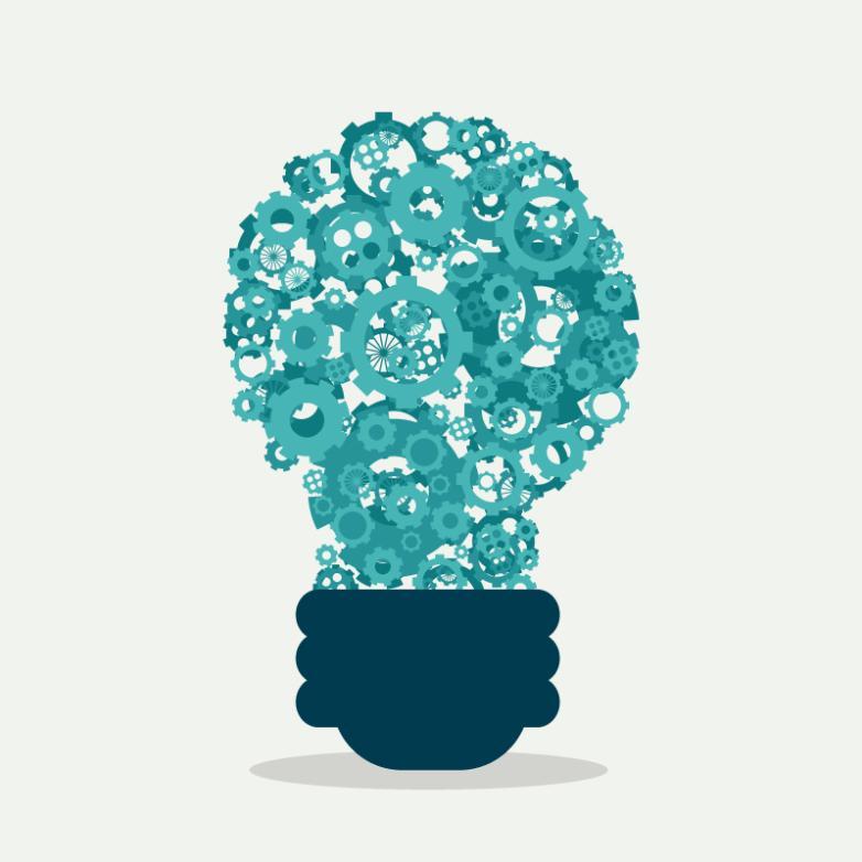 Creative Gear Combination Light Bulb Vector