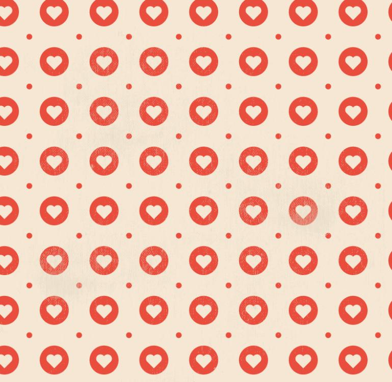 Red Round Love Seamless Background Vector