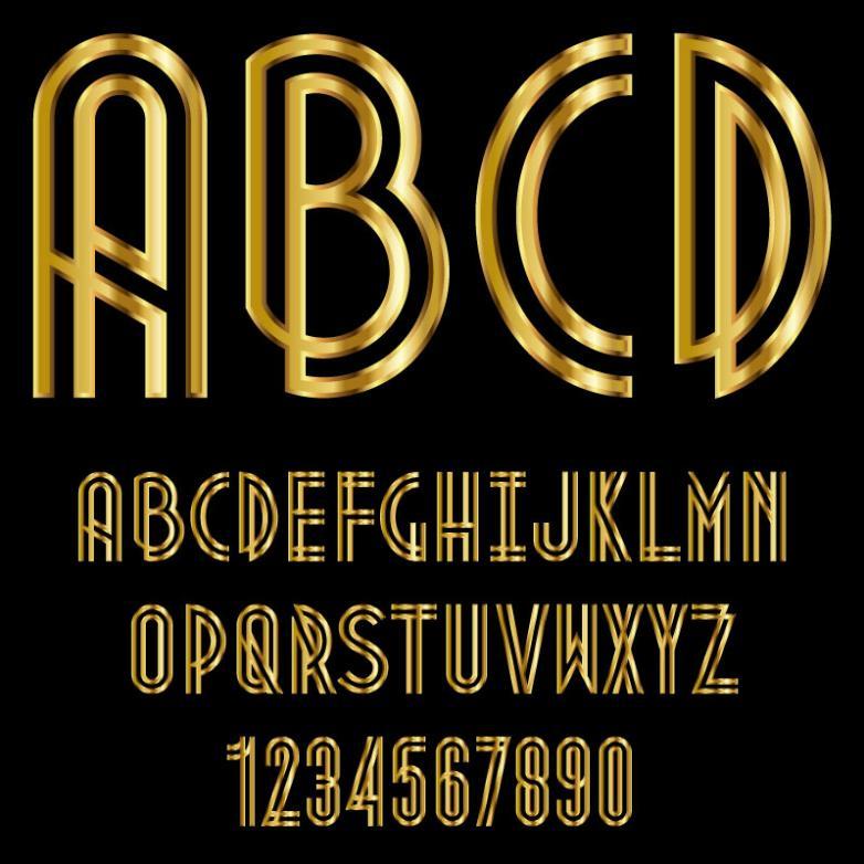 Golden Luster Letter Design Vector