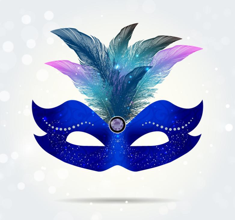 Beautiful Blue Mask Vector