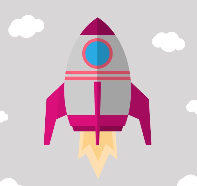 Creative Launch Rocket Design Vector