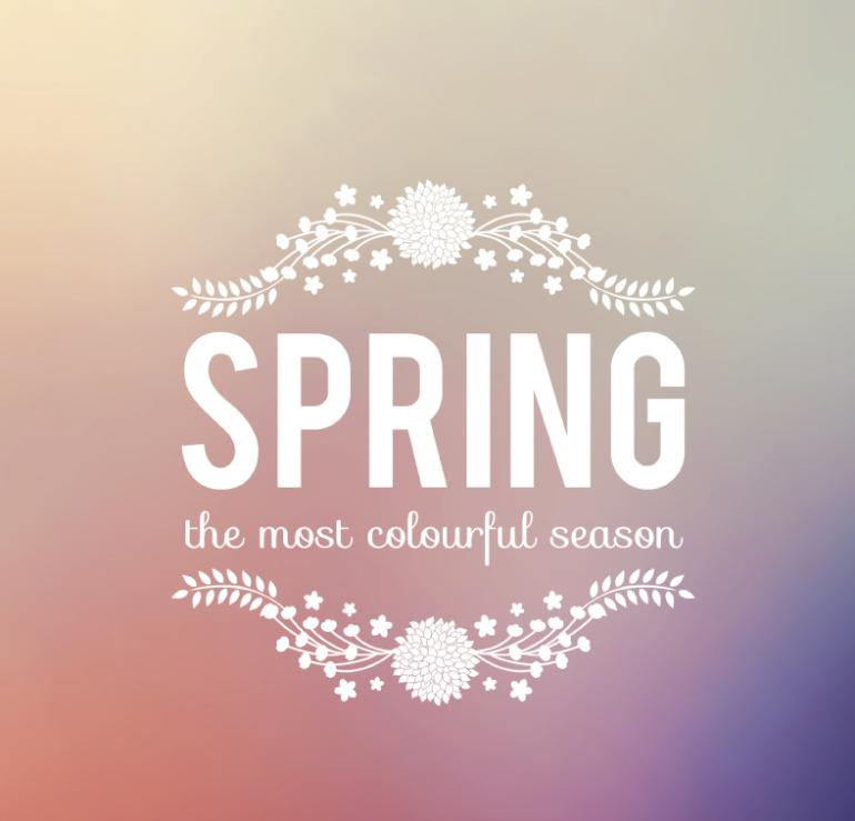 Spring Dream Art Word Posters Vector