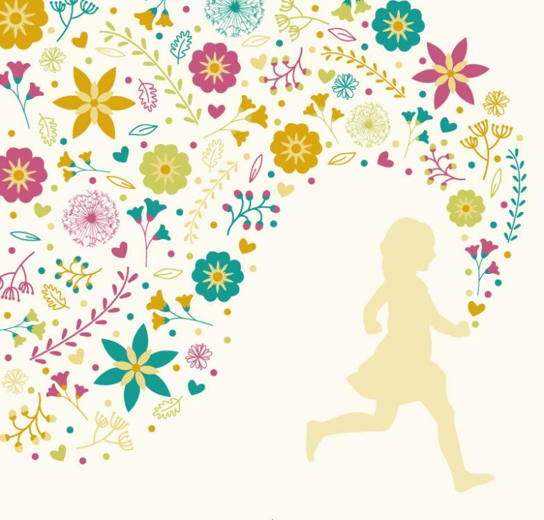 Rush In Creative Flower Girl Vector