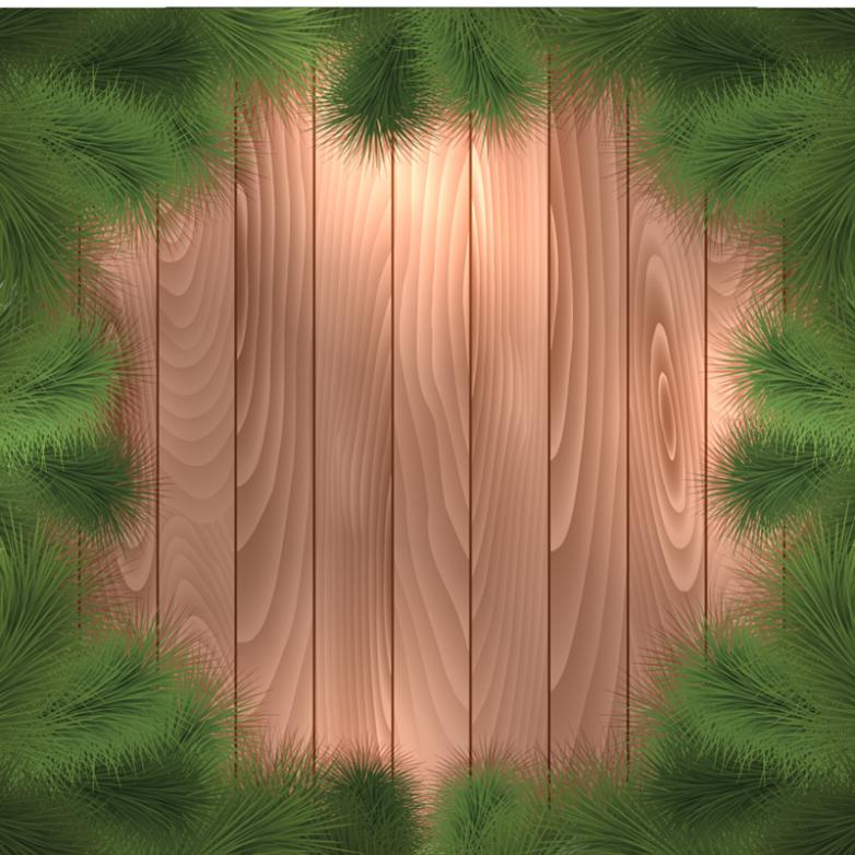 Pine Decorative Wood Background Vector