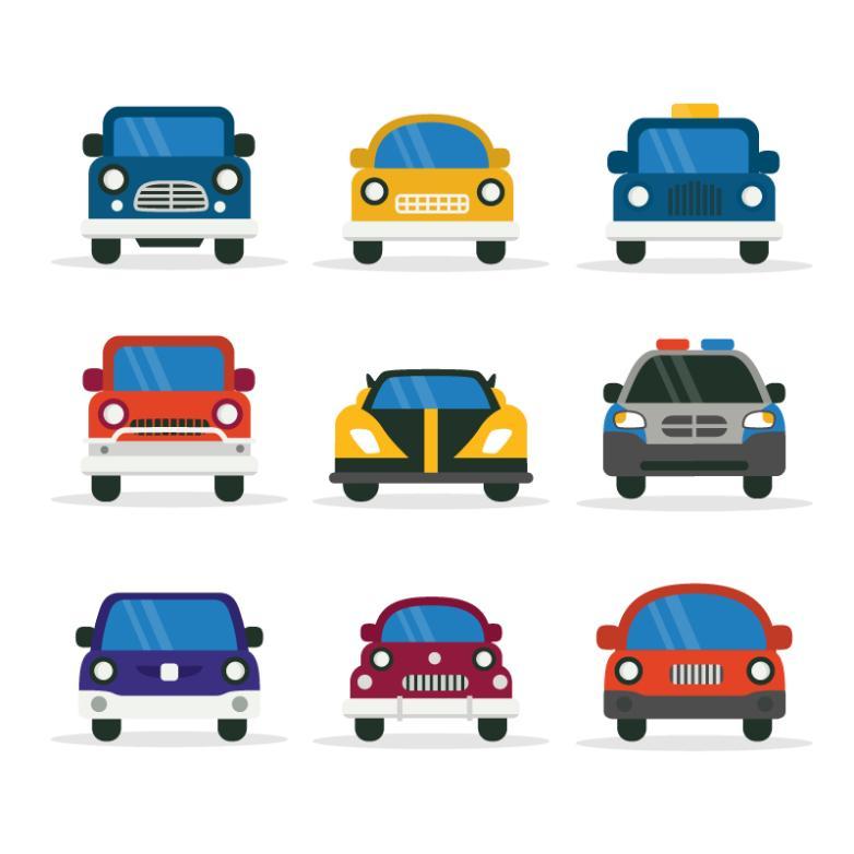 Nine New Flat Vehicle Design Vector