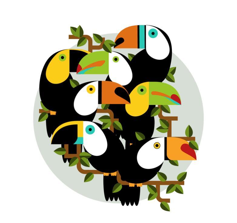 7 A Cartoon Toucan Vector