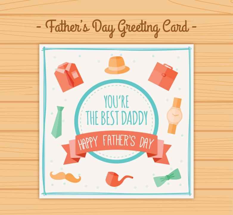 Creative Father's Day Greeting Card Vector